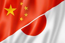 China and Japan flag